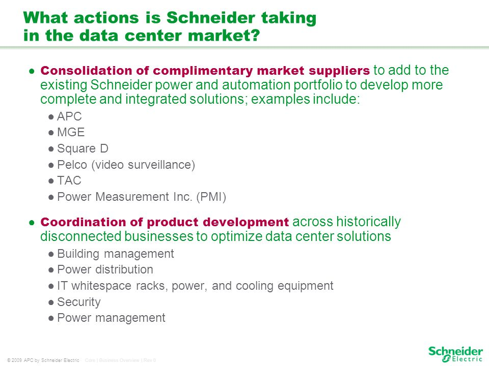 What actions is Schneider taking in the data center market