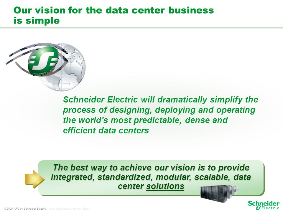 Our vision for the data center business is simple