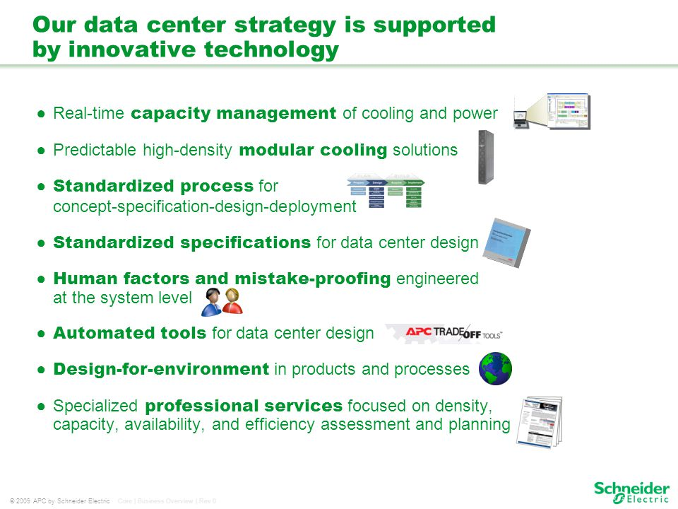 Our data center strategy is supported by innovative technology