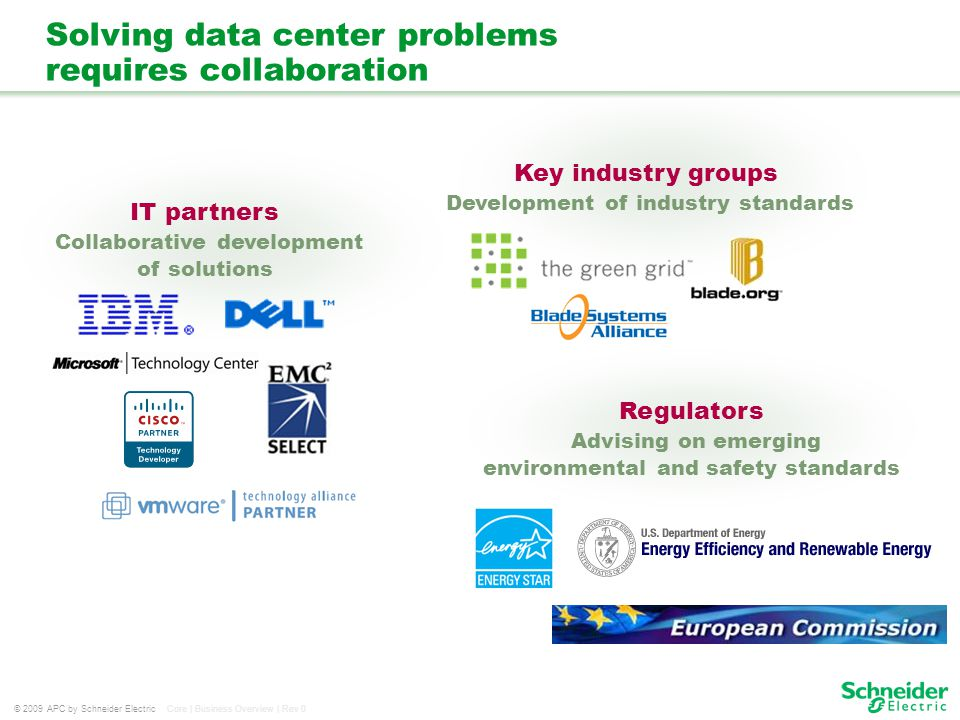 Solving data center problems requires collaboration