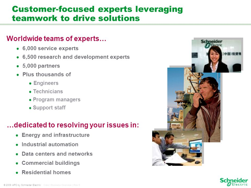 Customer-focused experts leveraging teamwork to drive solutions