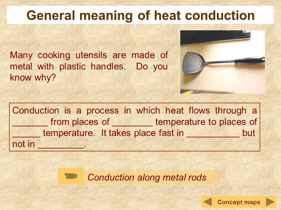 General meaning of heat conduction