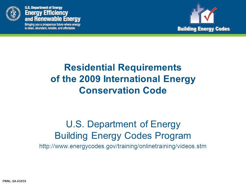 U.S. Department of Energy Building Energy Codes Program