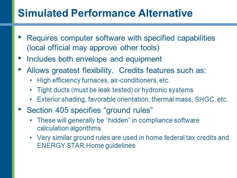 Simulated Performance Alternative