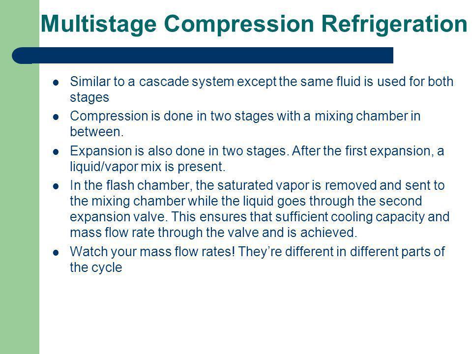 Multistage Compression Refrigeration