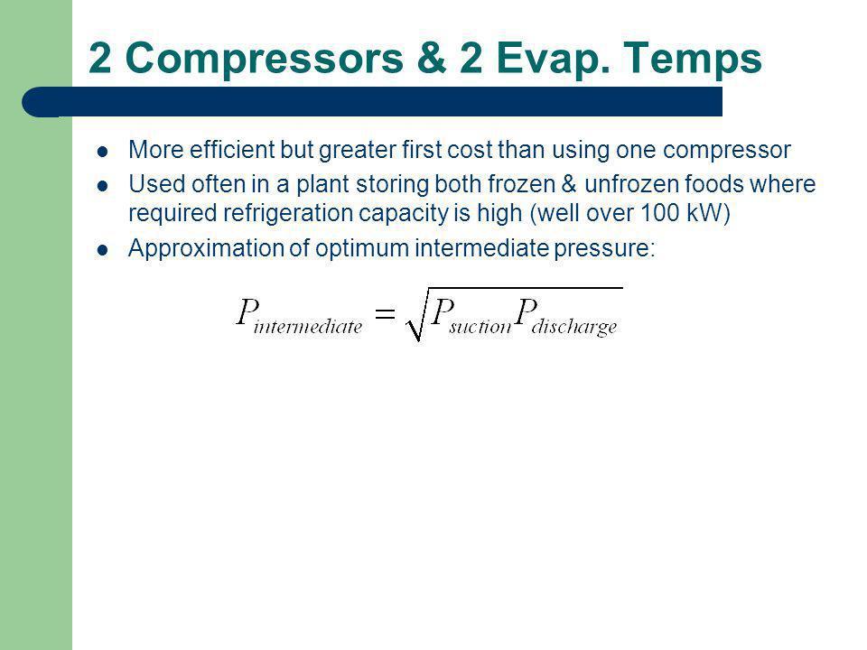 2 Compressors & 2 Evap. Temps