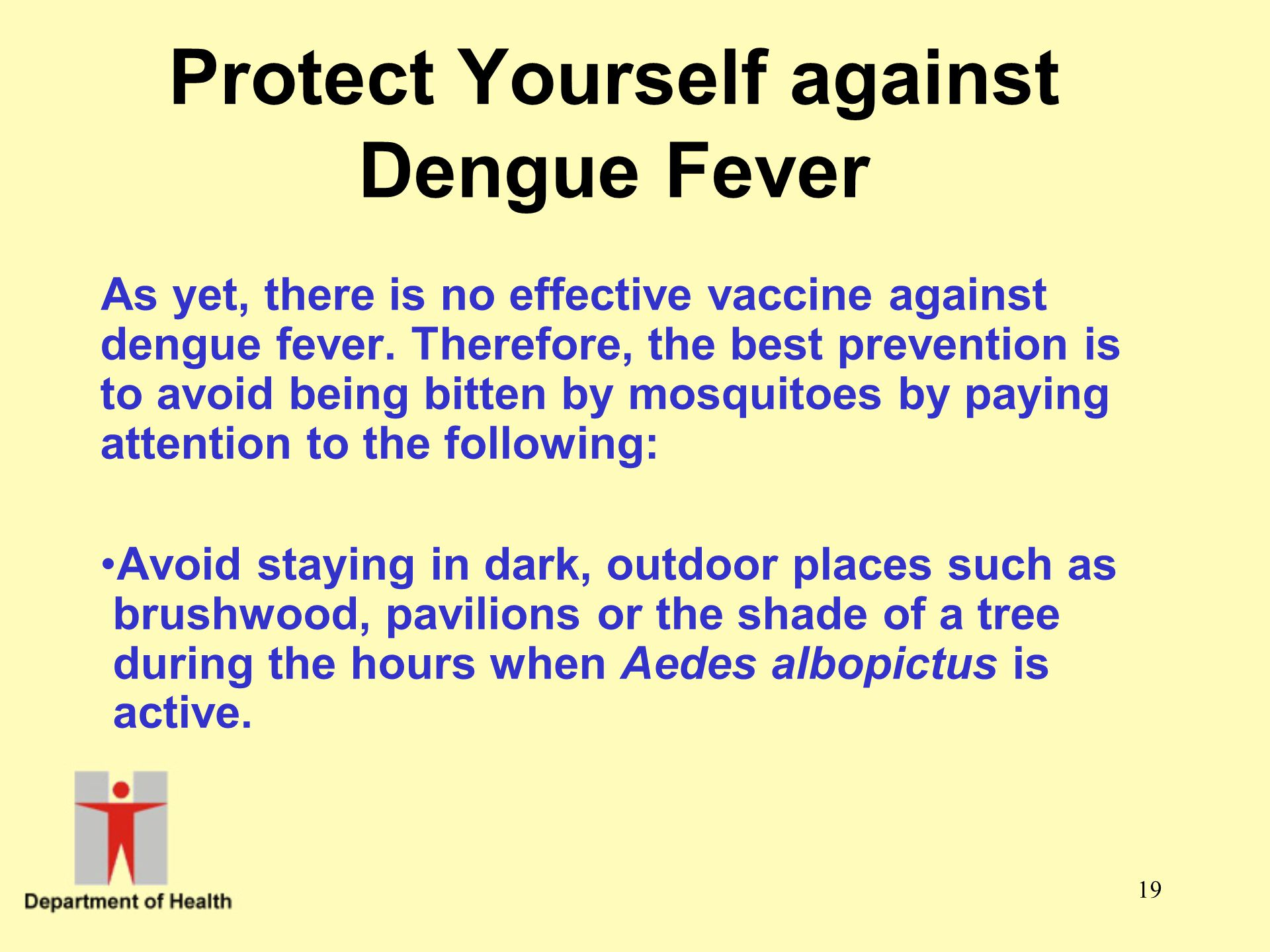 Protect Yourself against Dengue Fever