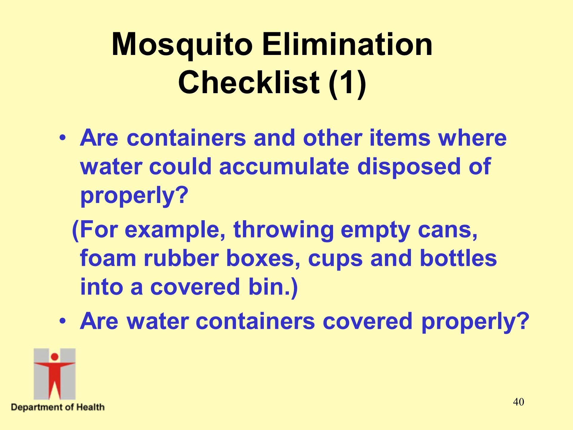 Mosquito Elimination Checklist (1)