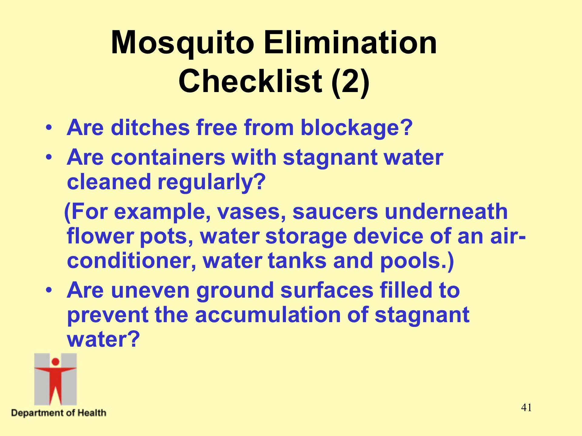 Mosquito Elimination Checklist (2)