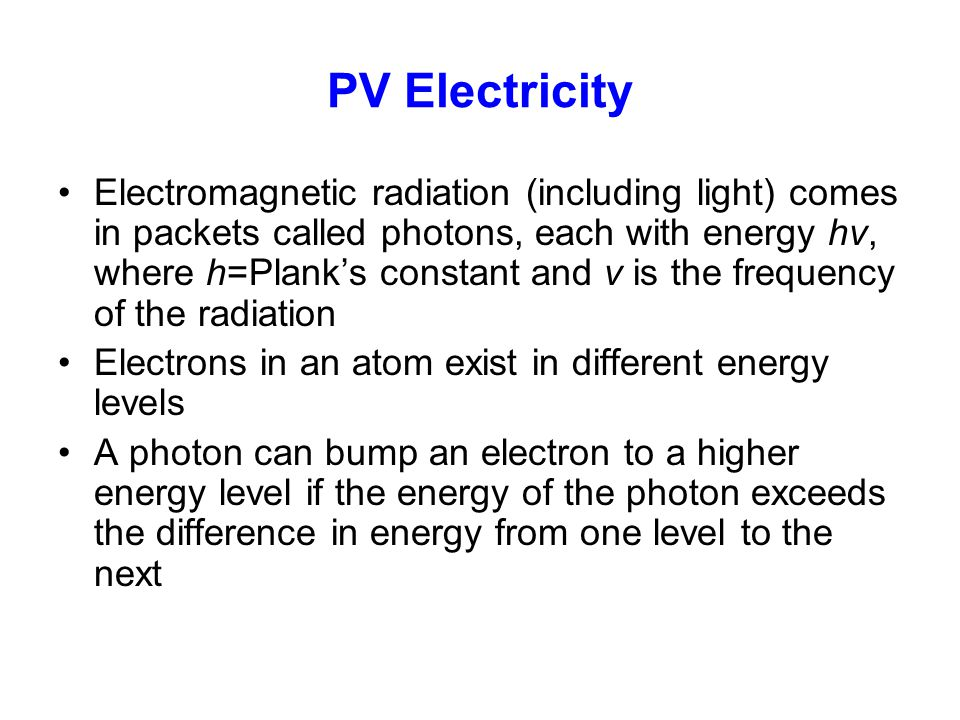 PV Electricity
