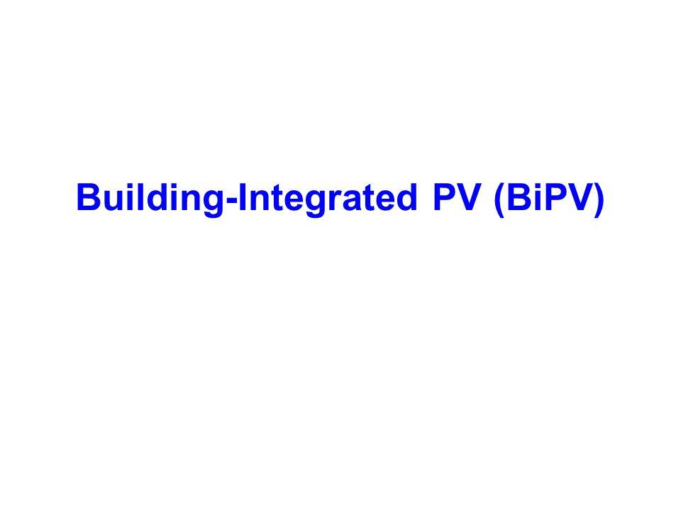 Building-Integrated PV (BiPV)