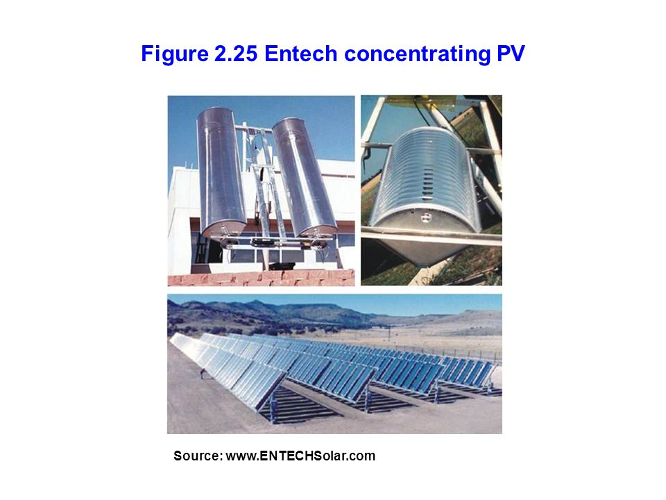 Figure 2.25 Entech concentrating PV