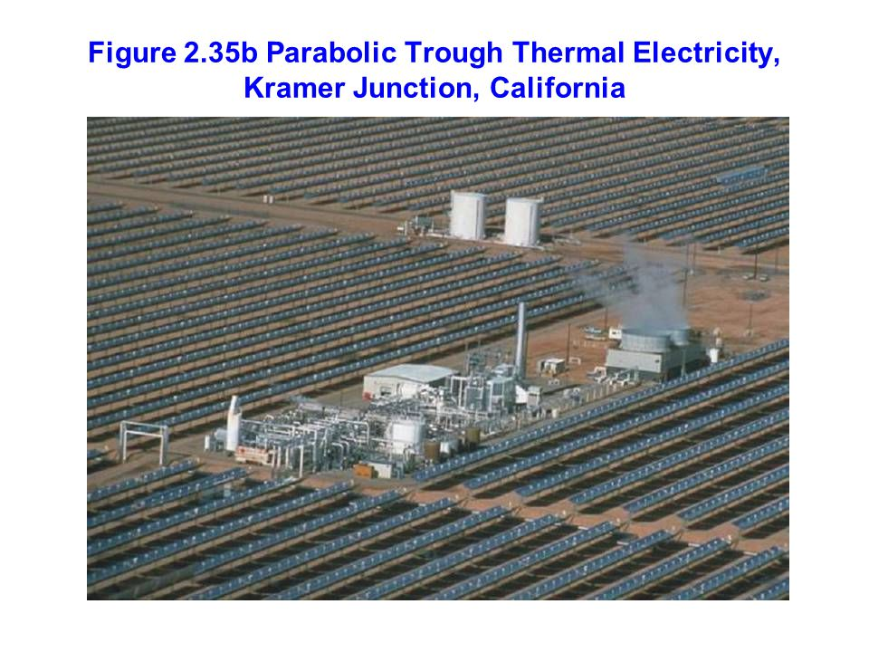 Figure 2.35b Parabolic Trough Thermal Electricity, Kramer Junction, California