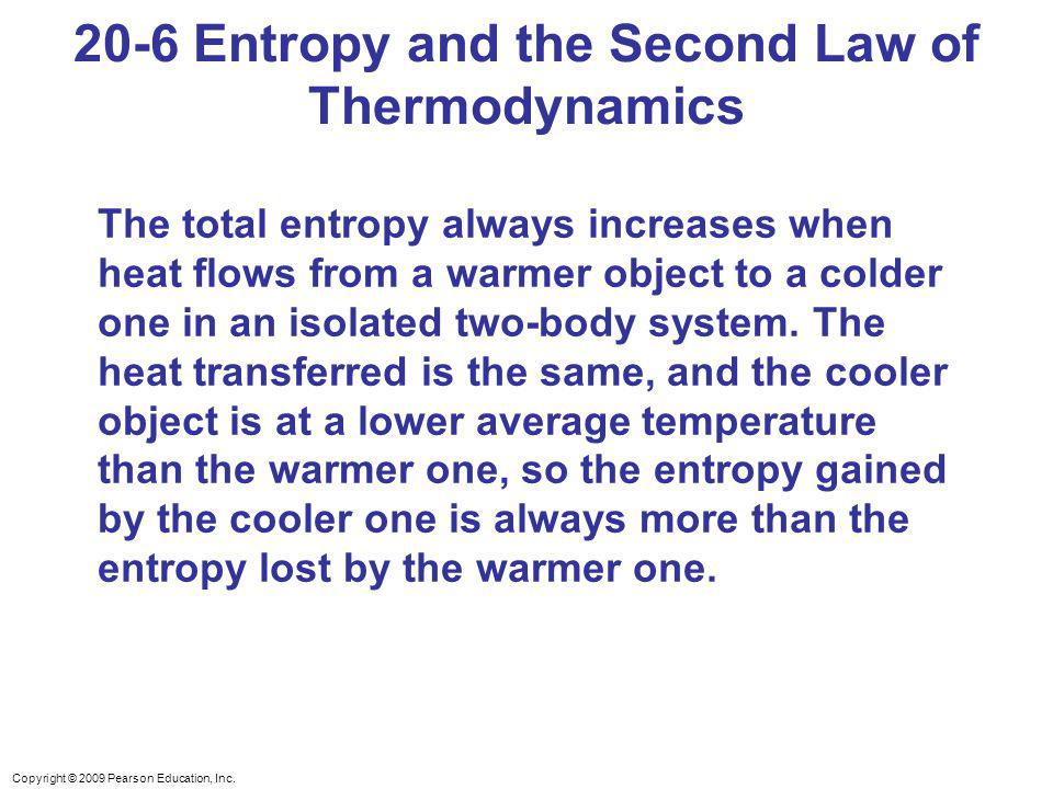 20-6 Entropy and the Second Law of Thermodynamics