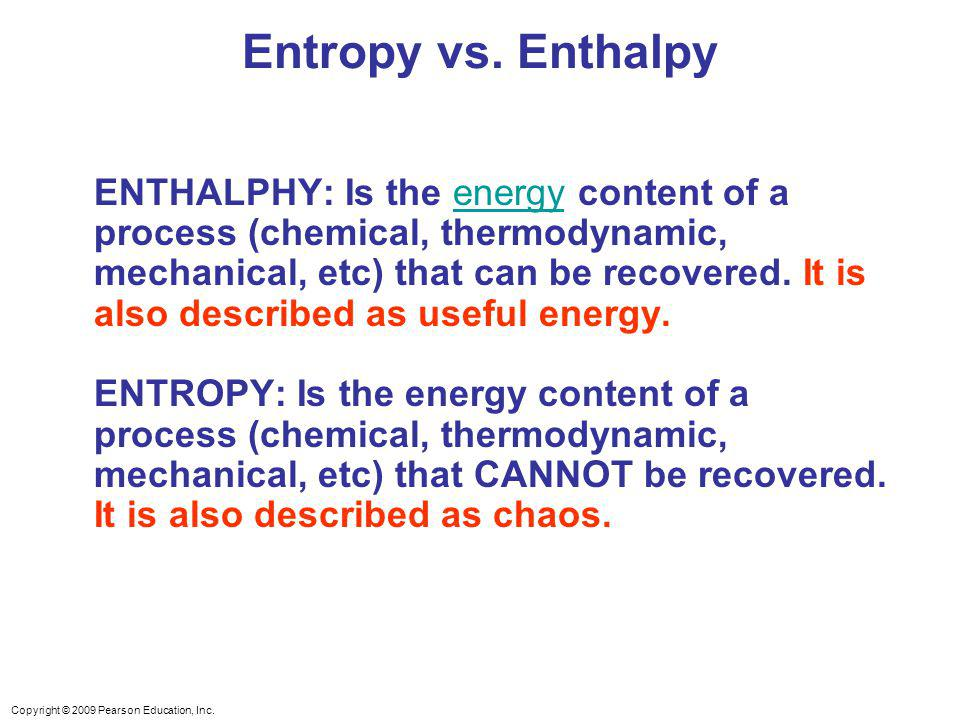 chemistry enthalpy and entropy relationship