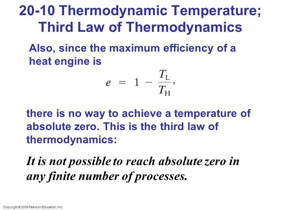 20-10 Thermodynamic Temperature; Third Law of Thermodynamics