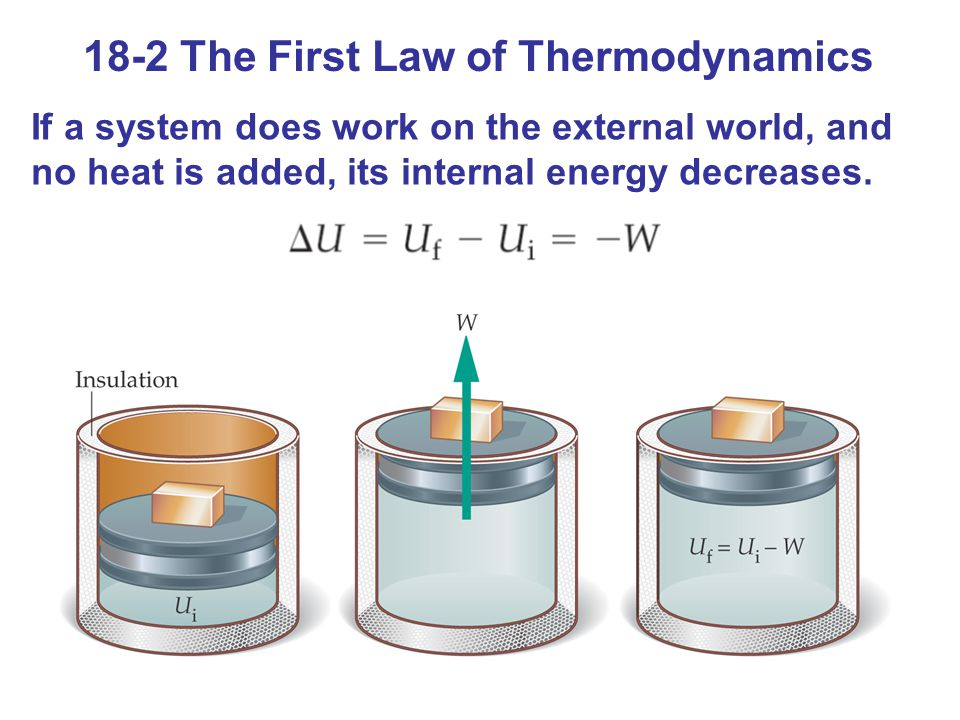 18-2 The First Law of Thermodynamics