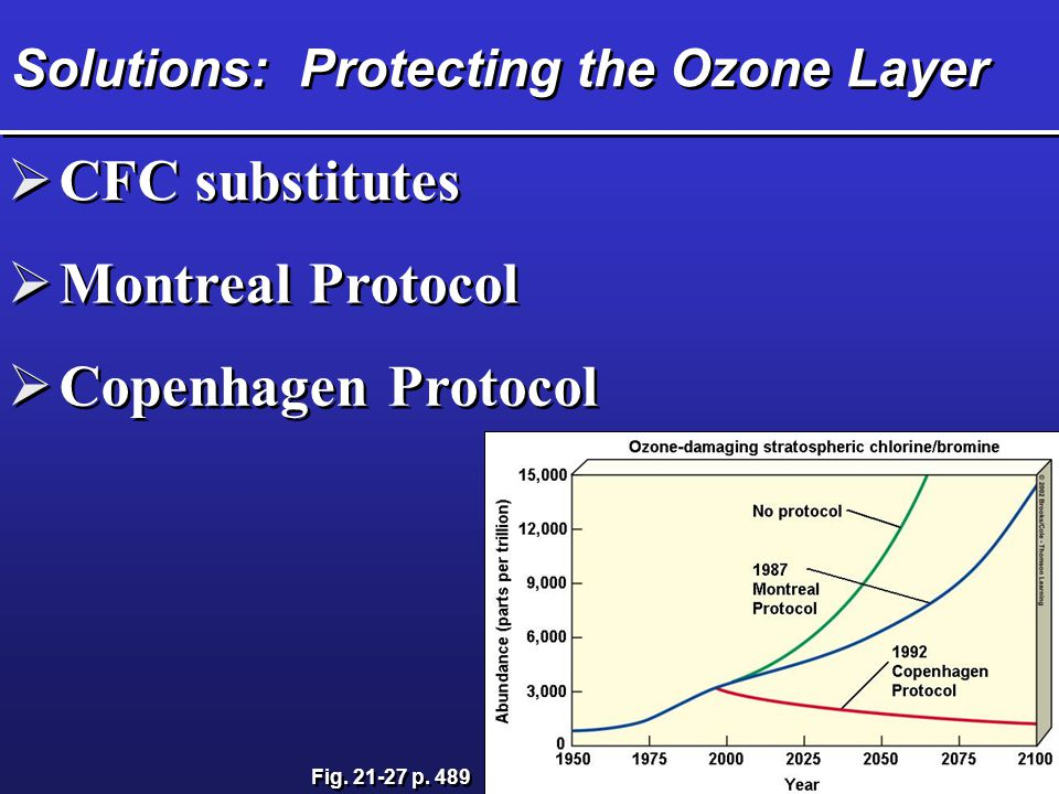 an analysis of the cfcs and substitutes and the ozone hole The montreal protocol on substances that deplete the ozone layer (a protocol to the vienna convention for the protection of the ozone layer) is an international treaty designed to protect the ozone layer by phasing out the production of numerous substances that are responsible for ozone depletion.