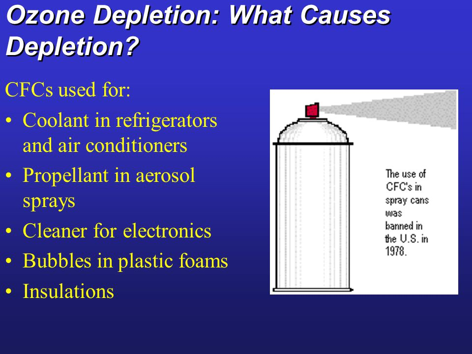 Ozone Depletion: What Causes Depletion