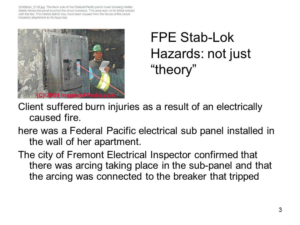 FPE Stab-Lok Hazards: not just theory