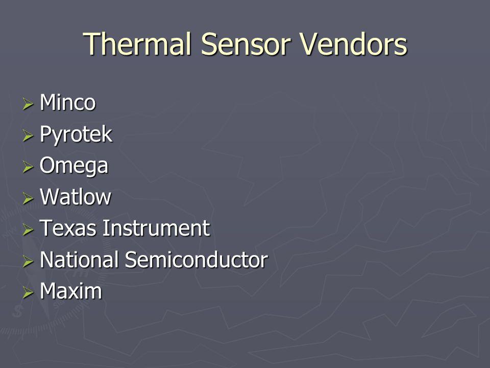 Thermal Sensor Vendors