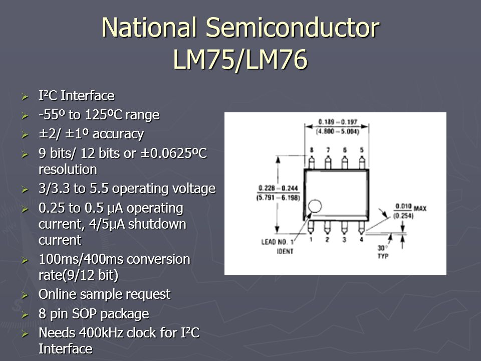 National Semiconductor LM75/LM76