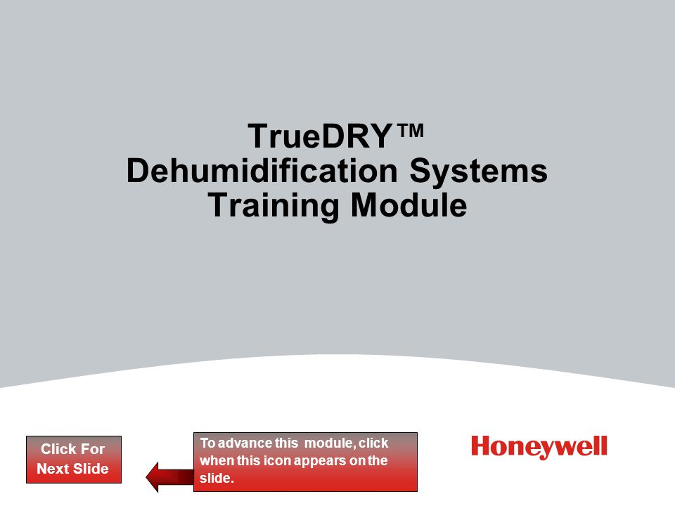 TrueDRY™ Dehumidification Systems Training Module