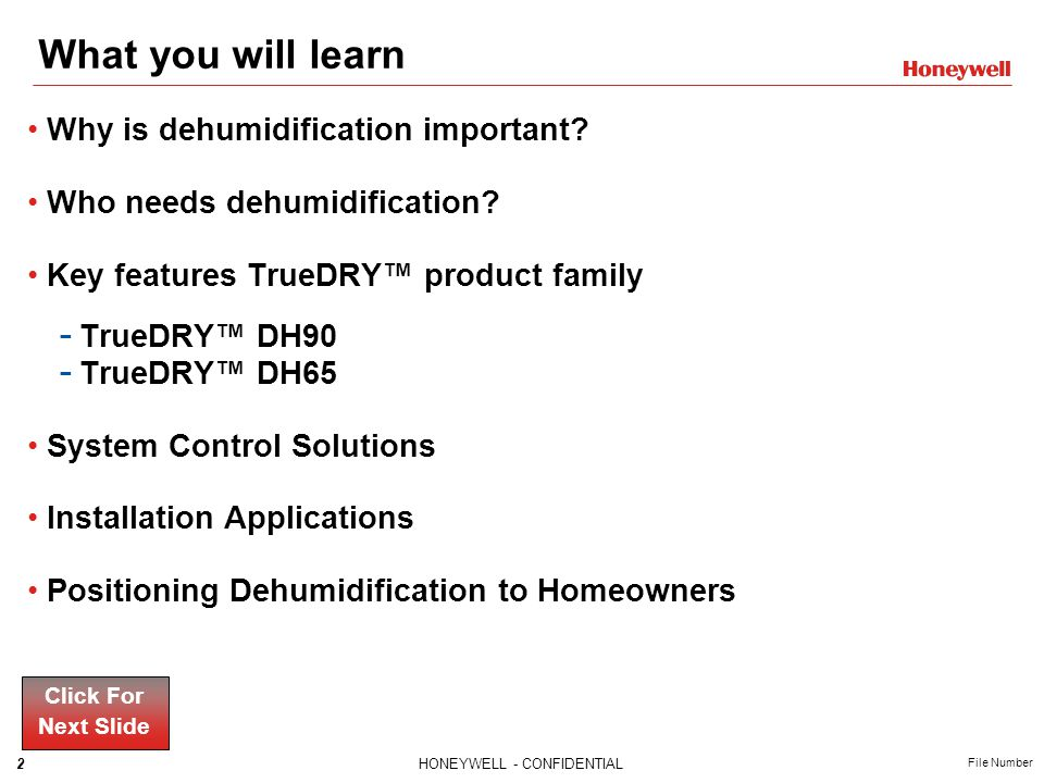 What you will learn Why is dehumidification important