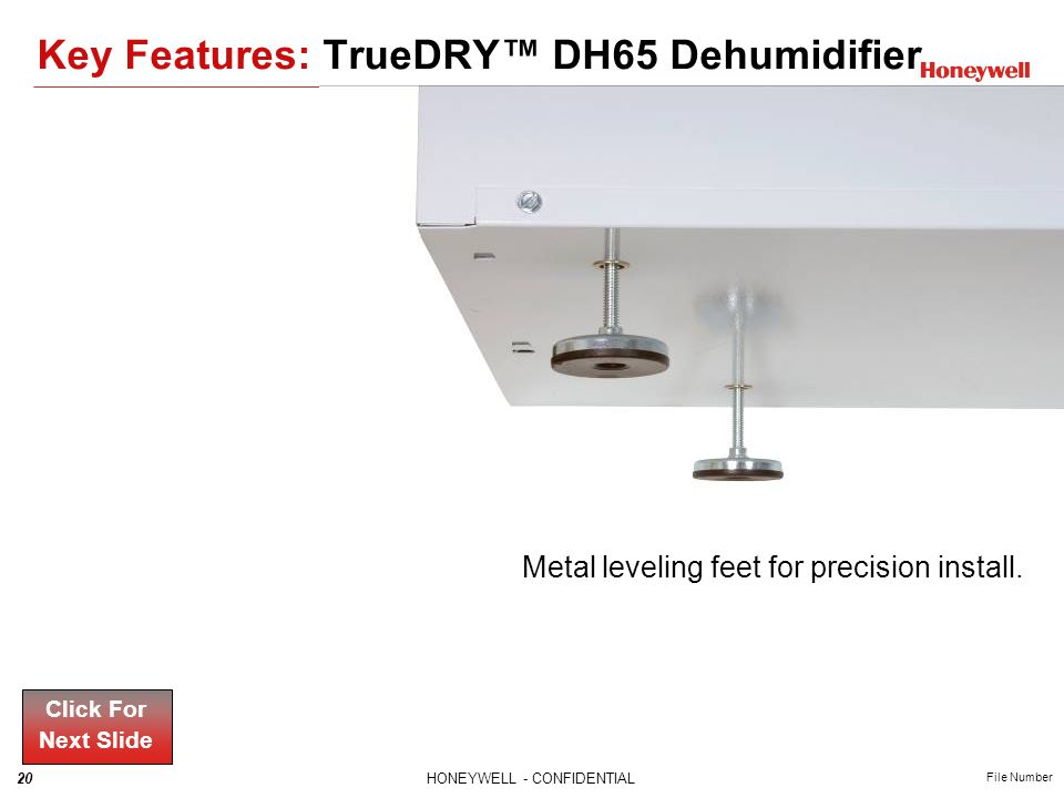 Key Features: TrueDRY™ DH65 Dehumidifier