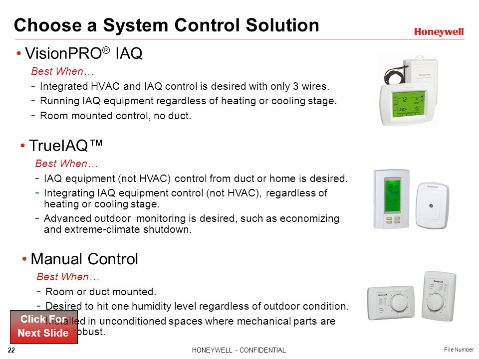 Choose a System Control Solution