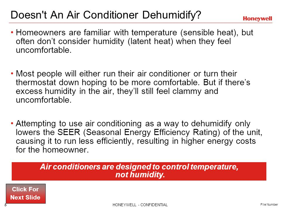 Doesn t An Air Conditioner Dehumidify