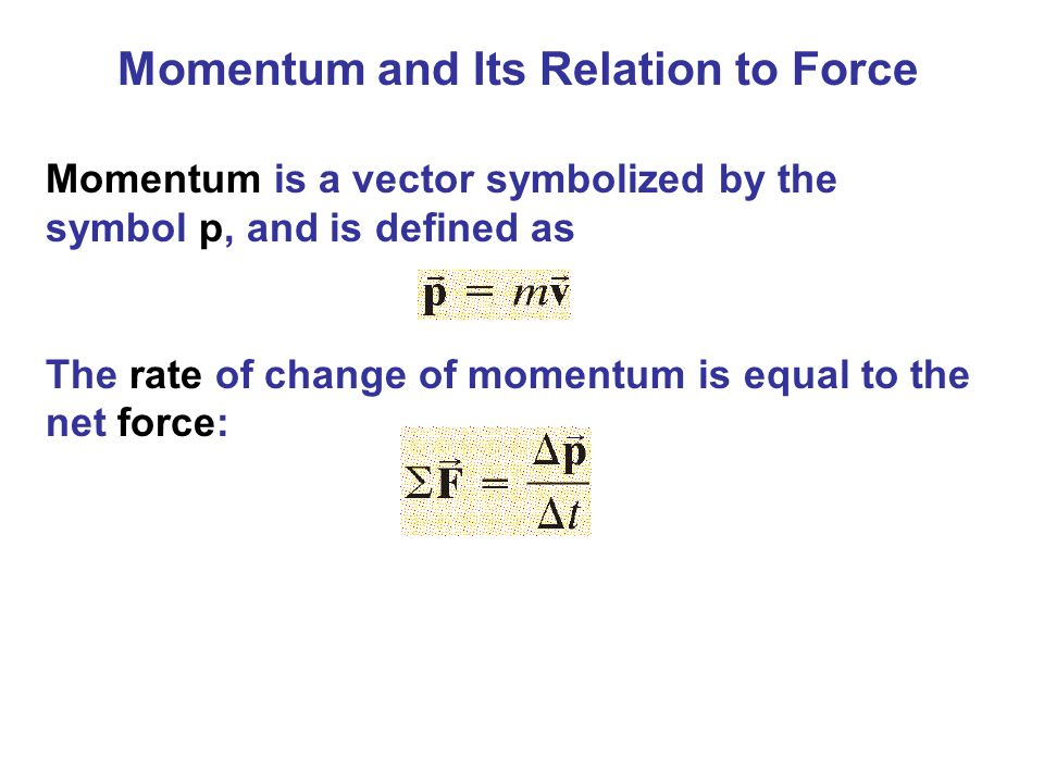Momentum and Its Relation to Force