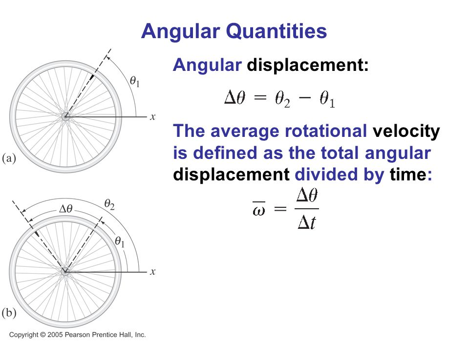 Angular Quantities Angular displacement: