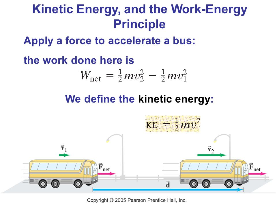 Kinetic Energy, and the Work-Energy Principle