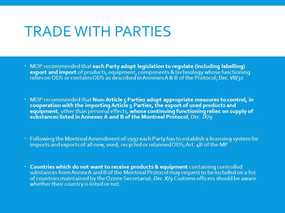 Trade with Parties
