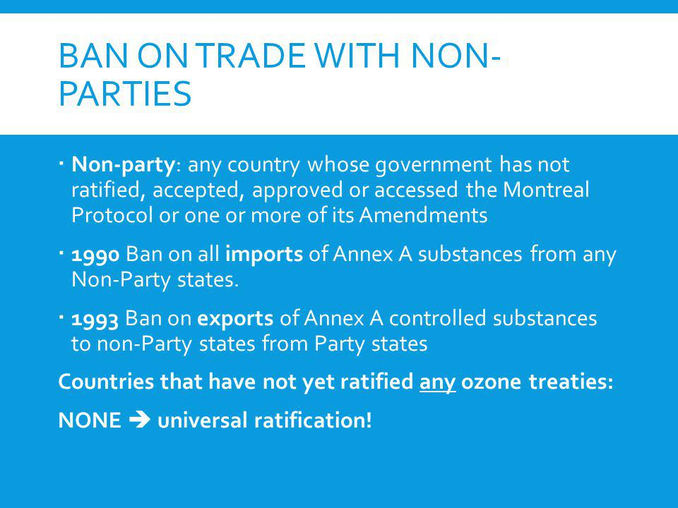 Ban on Trade with non-Parties
