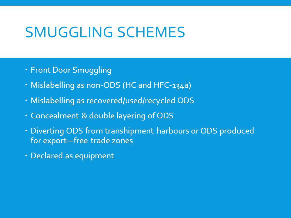 Smuggling Schemes Front Door Smuggling