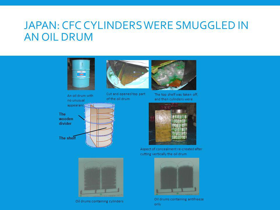 Japan: CFC cylinders were smuggled in an oil drum