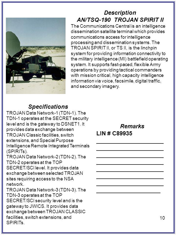 AN/TSQ-190 TROJAN SPIRIT II