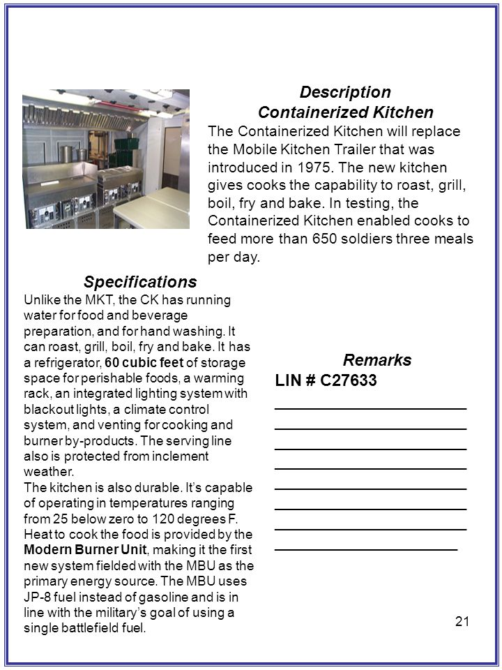 Containerized Kitchen
