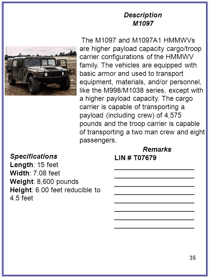 Description M1097.