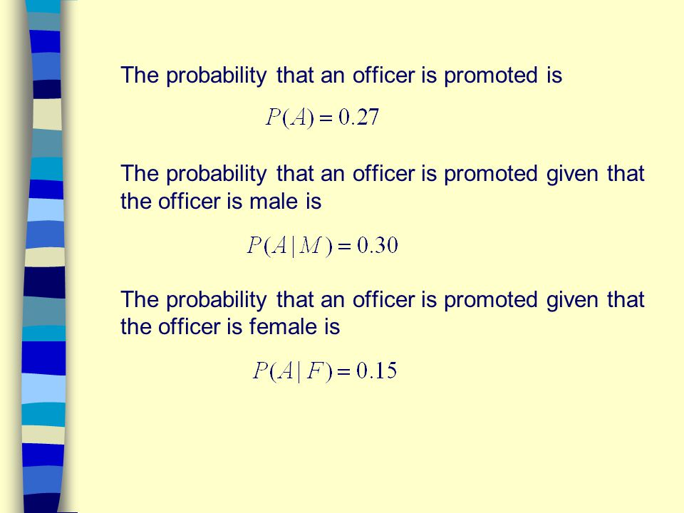 The probability that an officer is promoted is