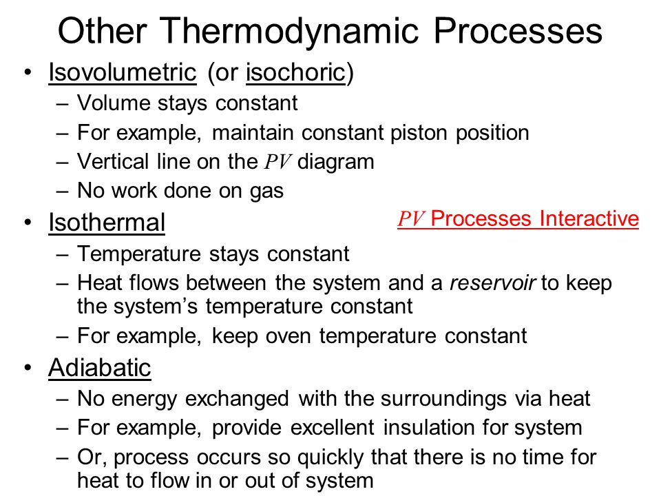 Other Thermodynamic Processes