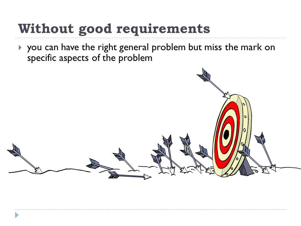 Without good requirements