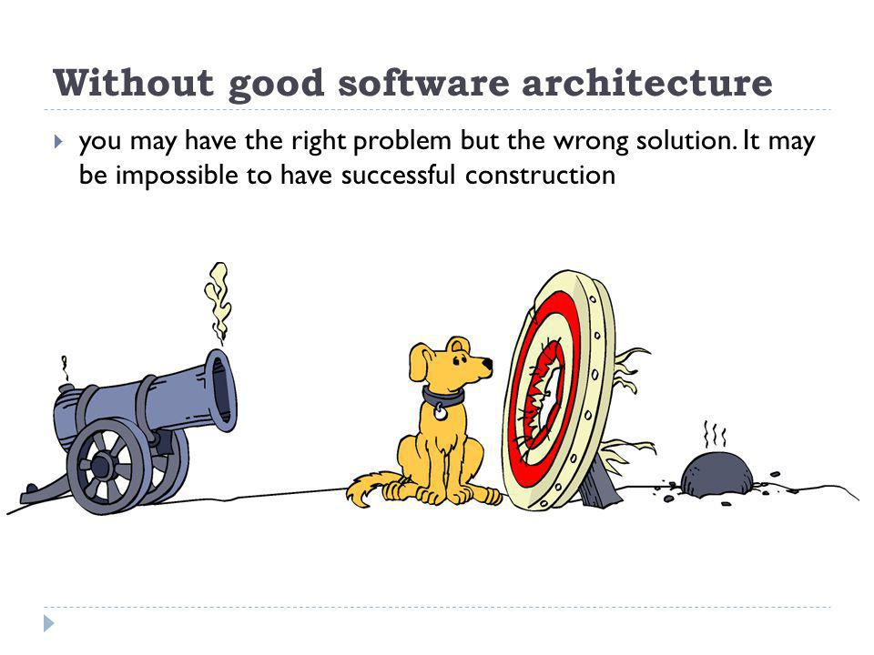 Without good software architecture