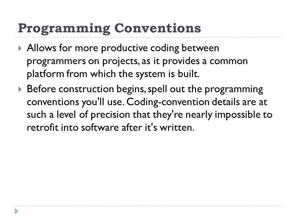 Programming Conventions