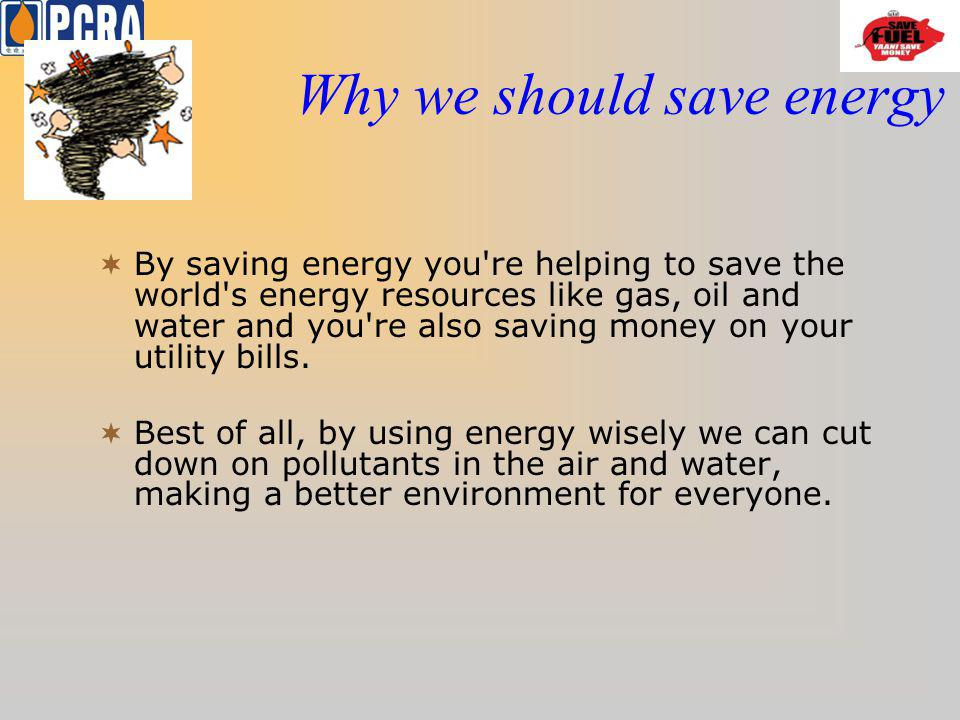 Why we should save energy