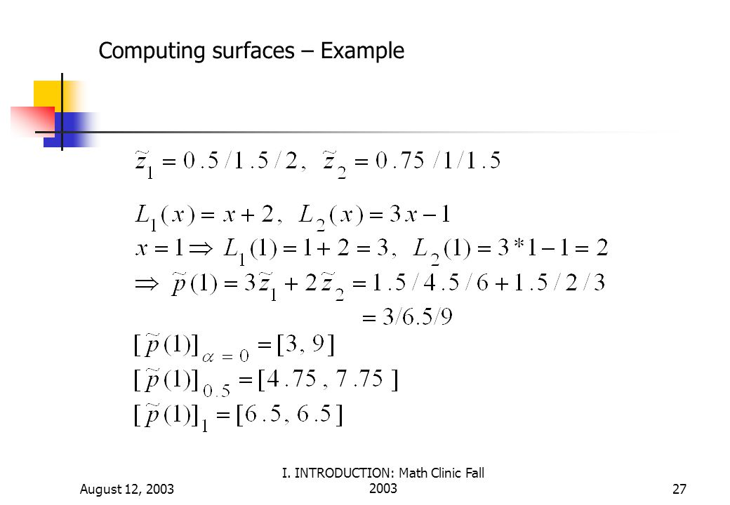 Computing surfaces – Example