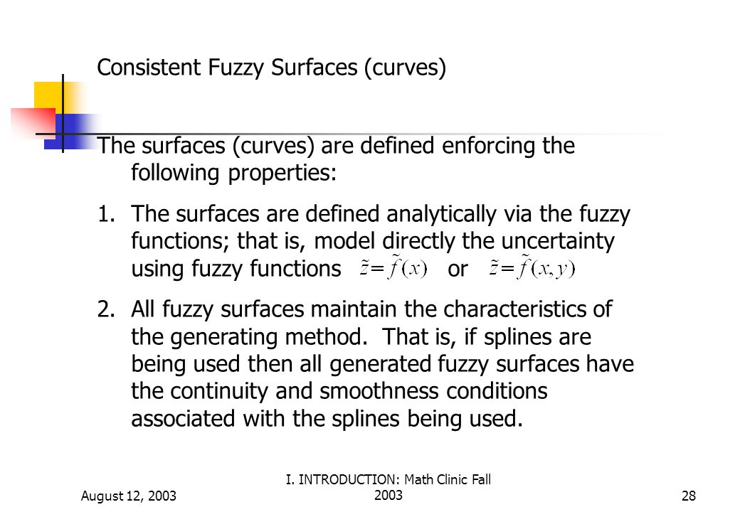 Consistent Fuzzy Surfaces (curves)