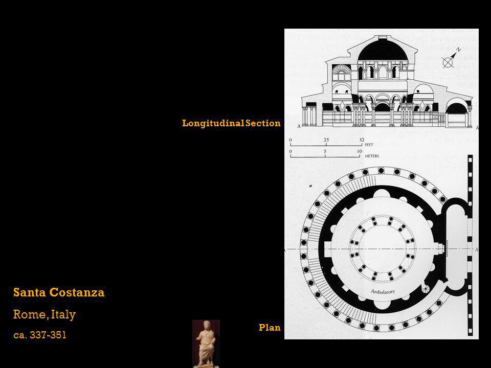 Santa Costanza Rome, Italy ca. 337-351 Longitudinal Section Plan